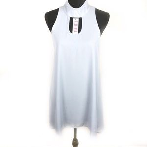 Lucy Love Dress Baby Blue with Choker Neckline